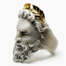 Fashion 18K Yellow Gold Filled Male Portrait Sculpted Face Ring Jewelry Sz 5-10