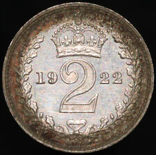 More details for 1922   george v twopence 'toned'   silver   coins   km coins