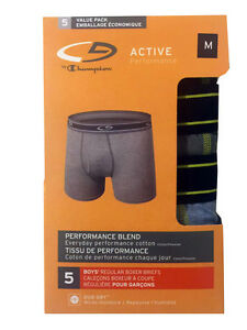 "C9 By Champion BOYS' Boxer Briefs 5-Pack ""DUO DRY & ACTIVE PREFORMANCE"" NEW"