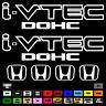 """(2)x i-VTEC DOHC ivtec 9"""" and 4x 2"""" emblem Vinyl Sticker Honda Civic Decal 026"""