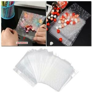 100pcs Self-Adhesive Cookie Bags Packaging Bag Dots Candy Wrapper Gift Bag New