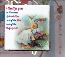 Baptism wall or shelf art ceramic tile from Italy