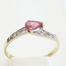 Ring Gold 585er Diamanten Rubin Goldringe 14 kt. Edelsteine Brillanten