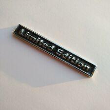 Black Limited Edition Logo 3D Metal Auto Car Emblem Badge Bonnet Sticker Decal