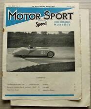 MOTOR SPORT Magazine March 1943 Amilcar RILEY ALPINE Grose Bodied Talbot 90