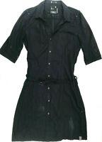Womens G-Star Dress 'KIT WESTON DRESS WMN 1/2 SLV' Black Cotton Size L