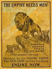 Guerre de propagande pub british empire enrôler recruter art print poster HP1418