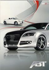 AUDI TT ABT Tuning Accessori 2009 SALES BROCHURE IN INGLESE Coupe Roadster