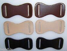 50 Leder Formteile schwarz mit 2 Langlöchern Basteln Modelle Lederformteile LWPH