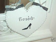 Shabby Chic BOUDOIR Stilleto French Chic ~ Girls Bedroom Sign Plaque
