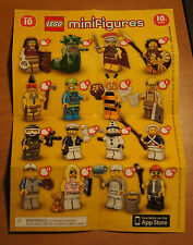 LEGO 71001 MINIFIGURE Series 10 INSTRUCTION CHECKLIST Mini-Insert Poster Only