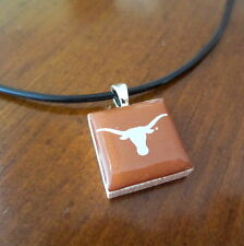 University of TEXAS LONGHORNS LOGO TILE CHARM PENDANT NECKLACE LifeTiles jewelry