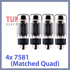 4x Tung Sol 7581 Tungsol TS Vacuum Tubes 6L6GC TESTED, Matched Quad
