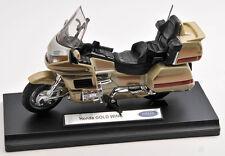 BLITZ VERSAND Honda Gold Wing gold Welly Motorrad Modell 1:18 NEU & OVP 1