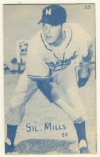1947-66 Exhibits Baseball Card Gil Mills Montreal Royals