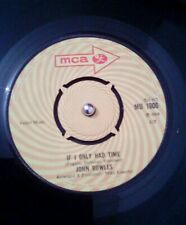 "John Rowles ‎– If I Only Had Time Vinyl 7"" Single UK MCA 1000 1968"
