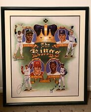 MLB Kings: Hank Aaron Nolan Ryan Pete Rose Rickey Henderson Autograph Signature