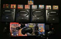 Lot Of 4 SEGA GENESIS Consoles Only, TESTED- With Games Power Cords CP