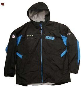 NFL Carolina Panthers Reebok sideline Rain Jacket Team Issued Onfield Mens Large
