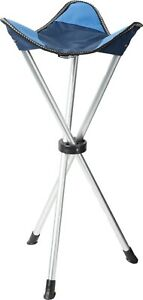 ADULT SIZE tripod folding stool. festival spectator tall camping portable chair