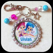 Personalized SHIMMER SHINE Bottle Cap Pendant Name Necklace Jewelry Zipper Pull