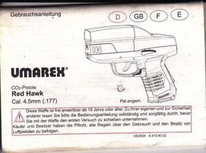 UMAREX CO2 RED HAWK 177 OPERATION MANUAL