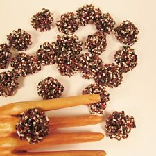 20 PCS Beaded Natural Gold Color Small Rose Flower Stretch Rings Party Favors