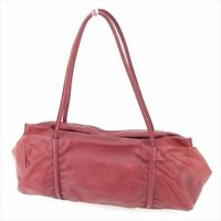 Miu Miu Tote bag Red leather Woman unisex Authentic Used D1936