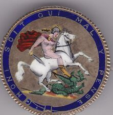 1820 GEORGE III ENAMELLED CROWN BROOCH IN A GOOD COLLECTABLE CONDITION