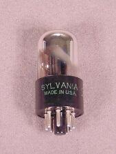 1 6SN7GTA SYLVANIA Chrome Top Large Base Hi Fi Amplifier Vacuum Tube Code 326