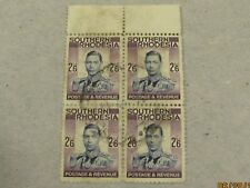 Southern Rhodesia 2/6d definitive 1937 used block of four. S.G.51