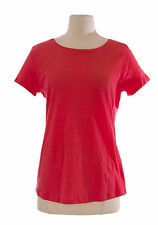 3005a8aefd7 BODEN Women's Coral Solid Cap Sleeve Crew-Neck Cotton Top US Size 10 NEW