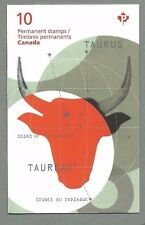 CANADA 2011 Booklet - TAURUS Signs of the Zodiac - 10 x Permanent - Complete MNH
