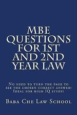 MBE Questions for 1st and 2nd Year Law : No Need to Turn the Page to See the...