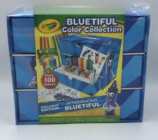 Crayola Bluetiful Art Set & Case Gift 100+ Pieces New Sealed Coloring Crayon