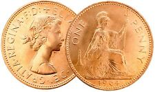 1961 to 1967 Elizabeth II Bronze Penny Coin Your Choice of Year / Date
