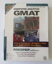 Test Preparation For The Computer Adaptive Gmat Powerprep Software (3.5 Floppy D