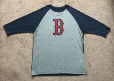 Nike MLB Dri-Fit Boston Red Sox Baseball 3/4 Sleeve Shirt Gray Nike Tee X-Large
