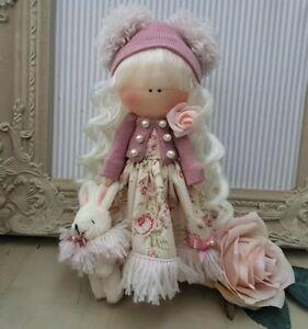 Rag doll handmade in the UK Tilda doll Ooak doll Art doll ALICE 8 inch tall