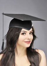 Black Mortar Board Hat Graduate Cap