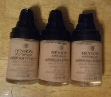 3 item lot REVLON PHOTOREADY AIRBRUSH EFFECT MAKEUP FOUNDATION 003 SHELL no caps