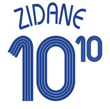 France Zidane Nameset 2006 Shirt Soccer Number Letter Heat Print Football Away