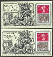 Great Britain-London Festival of Stamps Min sheet & OVERPRINT-2010 mnh