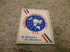 IPMS International Plastic Modellers emblem - sticker  E110