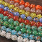 New 5pcs 12mm Lampwork Glass Dots Loose Spacer Round Beads Charms Mixed