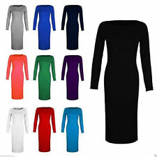 Party No Pattern Long Sleeve Dresses Plus Size for Women