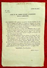 GG108-LOMBARDO VENETO, NOMINE DI VARI RAPPRESENTANTI GOVERNATIVI, COME THUN,1848