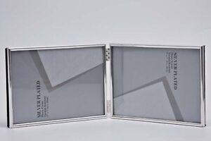 "Double Silver Photo Picture Frame 2.5x3.5"", 3.5x5"", 4x6"", 5x7"" & 6x8"" Thin Edge"