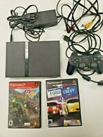 Sony PlayStation 2 Ps2 Slim Console 2 Games Controller Tested Bundle Lot