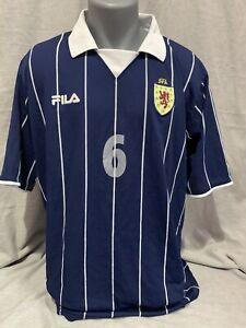 Scotland Home Shirt 2002/04 No.6 X-Large Rare And Vintage